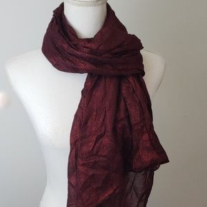 Metallic Red Holiday Scarf